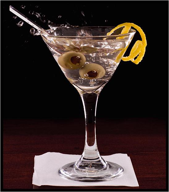 Dry Martini Cocktail mit ruhrgin